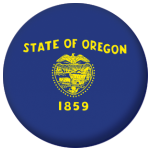 Oregon State Flag 58mm Mirror Keyring